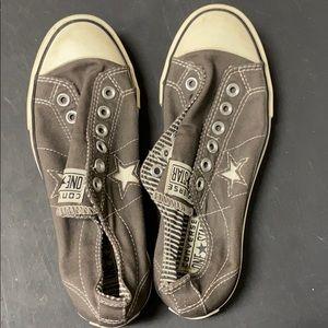 Converse women's slip on gray 7.5